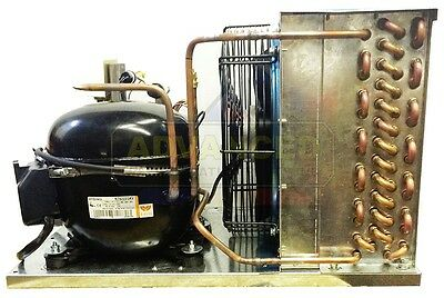 New Indoor Condensing Unit 1 Hp Low Temp R404a 115v Embraco Nt2180gkv1