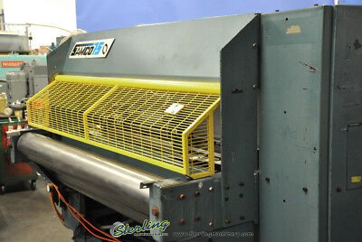 75 Ton Used Samco Full Beam Die Cutting Clicker Press Machine For Use With Feed