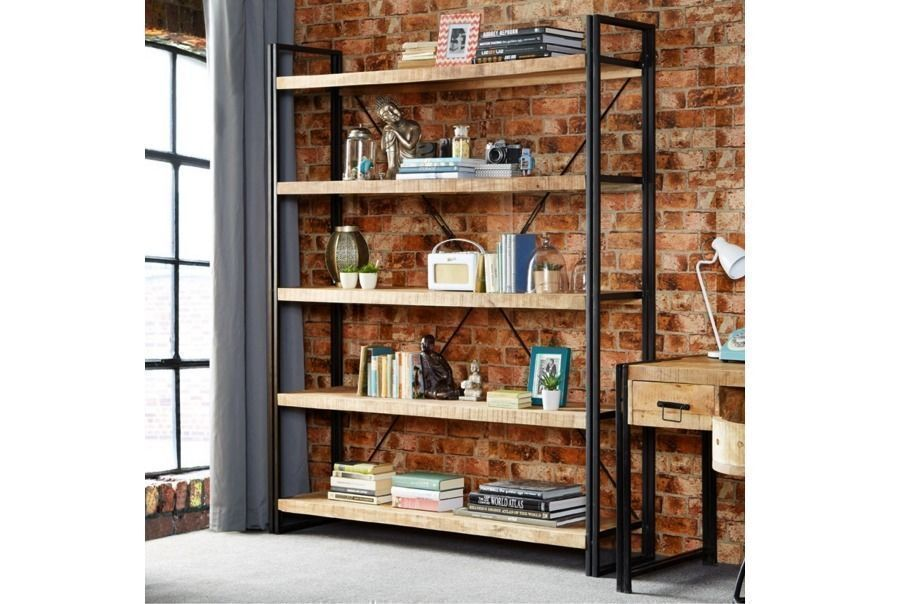 iron expedition bookcase bookcases industrial tier buy shelves timber
