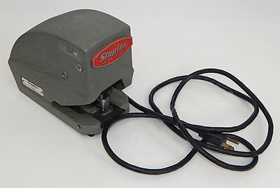 Vintage Staplex Sjm-1-3 Electric Desk Stapler Industrial Heavy Duty Tested