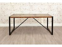 Industrial Dining Table made from Reclaimed Boatwood & Steel