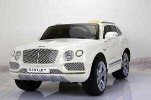 12v Licensed Bentley Bentayga Kids Electric Ride On Car - White Revesby Bankstown Area Preview