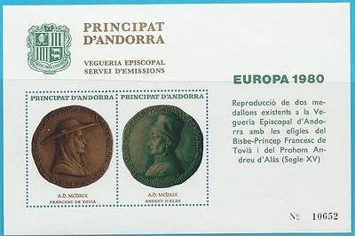 Andorra (span.) aus 1980 ** postfrisch Sonderausgabe Europa - Münzen, Siegel!