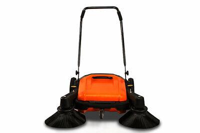 Industrial Floor Twin Sweeperdual Side Brooms38 Walk-behind Outdoorindoor