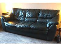 Leather sofa, three seats, £80 ono