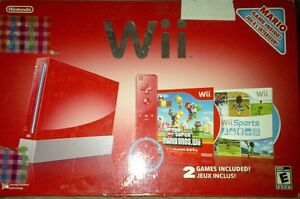 Red Wii Console  Cambridge Kitchener Area image 1