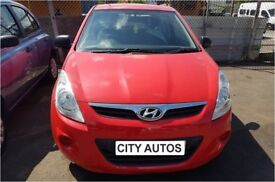 HYUNDAI I20 1.2 PETROL3 DOOR 2011 HATCHBACK REG 54,000 MILES RED