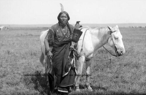 1892 Comanche Warrior Ako PHOTO Indian Native American Horse