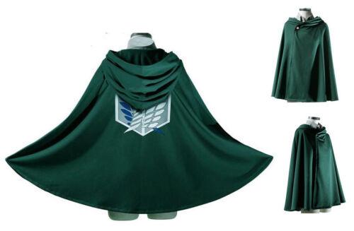 EMIDO Japan Anime Shingeki No Kyojin Cloak Attack on Titan Cosplay Cloth Green
