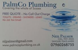 Local Plumber Neil Palmer 07960268755 FREE QUOTE, NO CALL OUT CHARGES 24/7