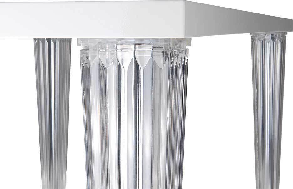 plexiglas acrilico tavolo da pranzo scrivania conferenza LACCA BIANCO O NERO