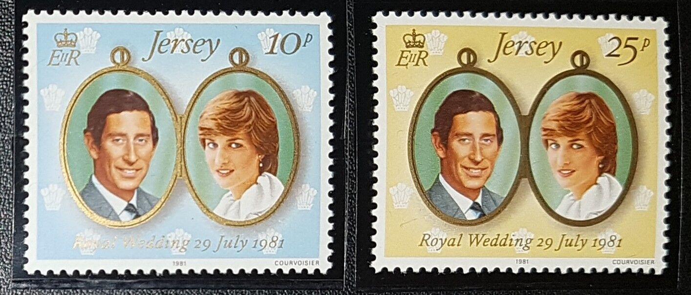 Jersey 1981 Royal Wedding Stamps Sg284-285 MNH (No636)
