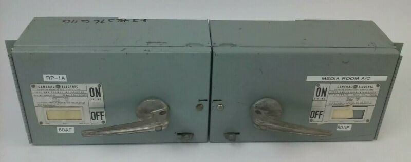 Ge Type Qmr Qmr322l & Qmr322r Twin Fusible Interrupter Switch 60a 240 W/hardware