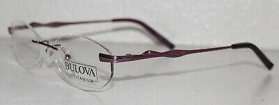 BULOVA KONA VIOLET New Twist Titanium Rimless Optical Eyeglass Frame For (Kona Titanium Frame)