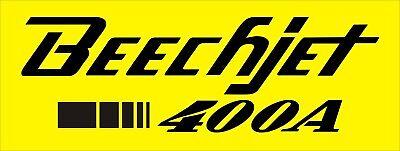 A191 Beechjet 400A Airplane banner hangar garage decor Aircraft signs