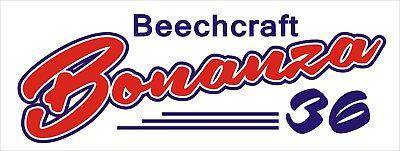 A192 Beechcraft Bonanza Airplane banner hangar garage decor Aircraft signs