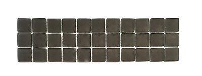 Mocha Glass 3x12 Frosted Decorative Border Wall Floor Tile Backsplash Bathroom