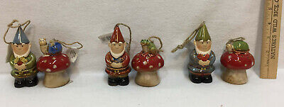 Happy Garden Gnomes & Mushroom Bells Ceramic Decor Ronnie Walter Frog Snail Ceramic Garden Gnomes