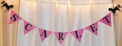 Its a girl baby shower birthday hot pink/ black cowgirl horses custom name - Pink And Black Baby Shower Decorations
