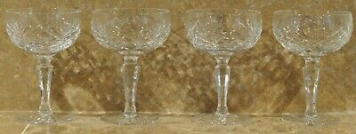 Galway Crystal Champagne Glasses Saucer Champagne -