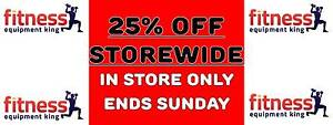 FITNESS EQUIPMENT KING 25% OFF STORE WIDE ENDS SUNDAY Campbelltown Campbelltown Area Preview