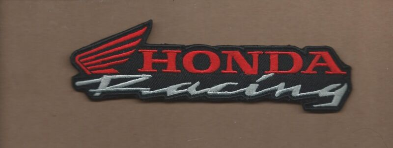 NEW 1 3/4 X 6 INCH HONDA RACING IRON ON PATCH FREE SHIPPING