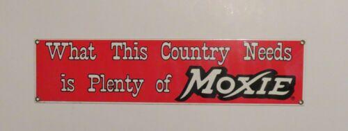 Vintage Ande Rooney Moxie Soda Porcelain Advertising Sign (NOS)