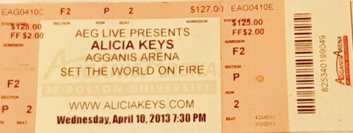 Alicia Keys memorabilia concert tickets 2013