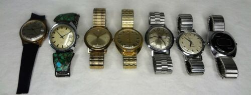 Lot of (7) Vintage Timex Watches