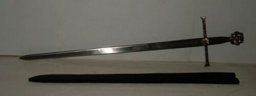"""40"""" MEDIEVAL KINGS SWORD WITH SHEATH ETCHED BLADE, KNIGHT"""