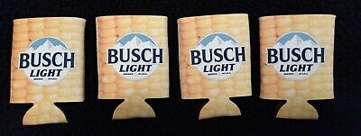 Official Busch Light Corn Koozies / Coolies 4-pack *LIMITED AND RARE*