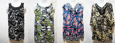 Style Co or ALFANI woman PLUS breezy look printed embellished Tunic top 1X NEW (Breezy Printed Tunic)