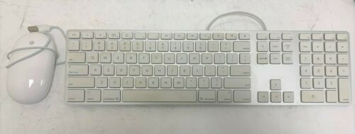 Apple A1243 Wired USB Keyboard and A1152 Wired USB Mouse Combo Bundle