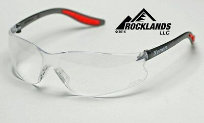 Elvex Xenon Safety Glasses Clear Anti-fog Lens Blackred Frame Sg14cafz87.1