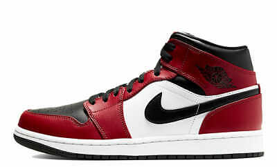 BRAND NEW Nike Air Jordan 1 Retro Mid Chicago Black Toe 8-13 Gym Red 554724-069
