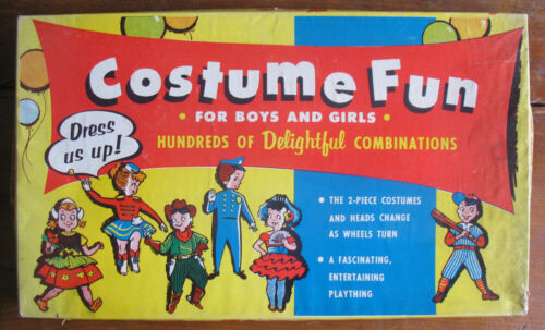 1957 Costume Fun Mastercraft #750 Dress Up Paper Doll Game Nice!