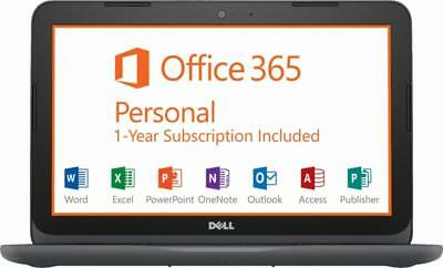 "New Dell Inspiron 11.6"" AMD A6-9220e 4GB RAM 32GB eMMC Win 10 with Office 365"