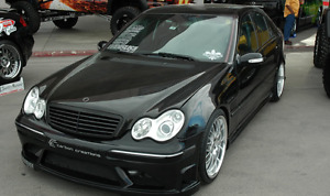 2002 Mercedes-Benz C-Class Sedan | Double Din OEM Rims Bodykit