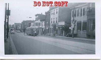 6G309 RP 1957 DC TRANSIT CAR #1472 WASHINGTON DC AT PLOW PIT BELOW VOLTA PLACE