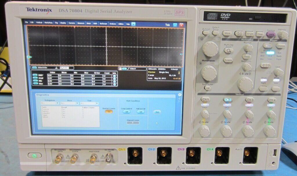 Best Tektronix Oscilloscope : Tektronix dsa ghz channel gs s oscilloscope