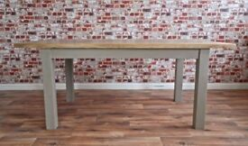 Rustic Dining Table - Six-Seater Oak Farmhouse - Free Delivery