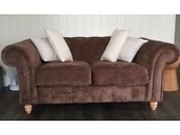 1 x 2 seater and 1 x 3 seater chesterfield style sofas