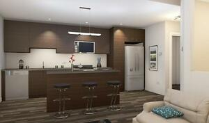 Modern, Bright, Spacious with ample windows and high ceilings