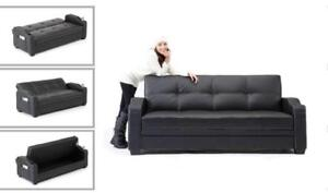 sleeper sofa bed with storage and cupholders (ME718)