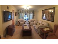 leather sofas and wooden furniture all for £650