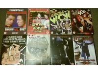 Wrestling WWE TNA WCW ECW WWF DVDS Books Bundle Lot