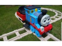 Brilliant Thomas the tank engine ride on train and track great fun with light up torch brilliant ..