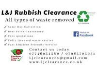 L&J Rubbish Clearance / Waste Disposal