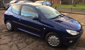Blue Peugeot 206 Hatchback (2003) 1.4 Verve 3dr