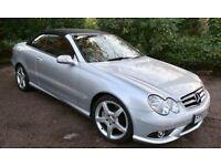 2005 silver Mercedes Benz CLK 3.5 Cabriolet Avantgarde convertible
